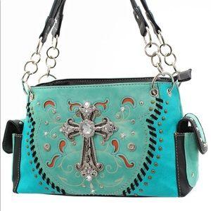 Handbags - RHINESTONE HANDBAGS CONCEALED CARRY PURSE